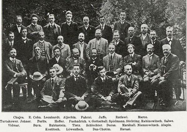Participantes Torneo Carlsbad en 1911