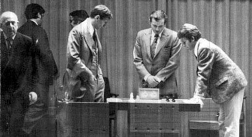 Fischer, Lothar Schmid y Spassky
