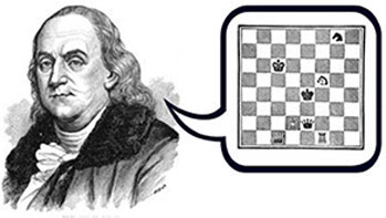 Franklin piensa ajedrez