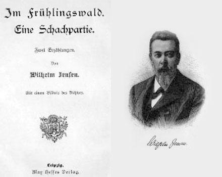 """Portada de la novela """"Una partida de Ajedrez"""". Wilhelm Jensen (1837 – 1911)"""