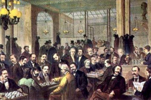 El café de la Régence hacia 1840