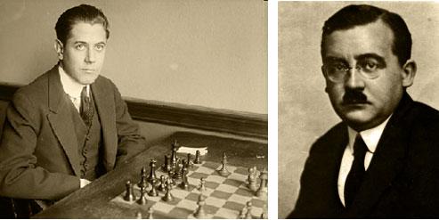 José Raúl Capablanca vs Milan Vidmar. Londres. 1922