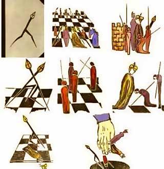 Representaciones a lo largo de la Historia del ajedrez (Fuente: http://www.tabladeflandes.com/frank_mayer/elke-rehder_144.jpg)