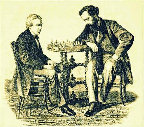 ¡Fue el destino quien movió las piezas! . Morphy jugando contra de Rivière en 1858