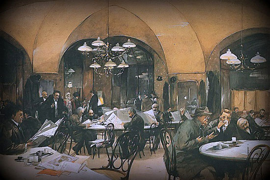 Reinhold Völkel – Café Griensteidl en Viena (1896)