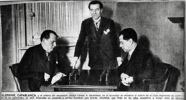 Alekhine - Capablanca, Buenos Aires 1927