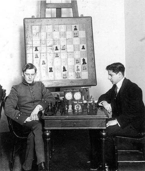Alekhine y Capablanca San Peterburgo 1913