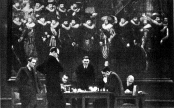 Alekhine y Euwe en 1935