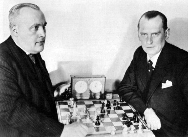 Bogoljubow y Alekhine en 1934