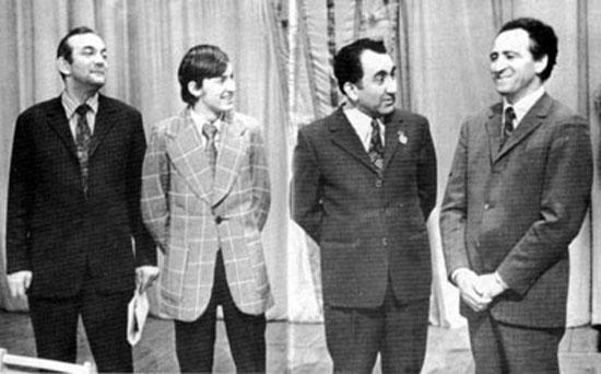 Cto de la URSS 1973 Korchnoi, Karpov, Petrosian y Polugaevsky