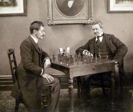Emanuel Lasker en 1893 vs Ryan