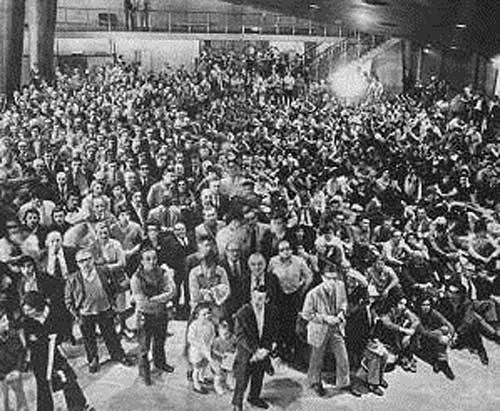 Espectadores del match Fischer vs Petrosian Buenos Aires 1971