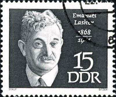 Estampilla alemana de Lasker