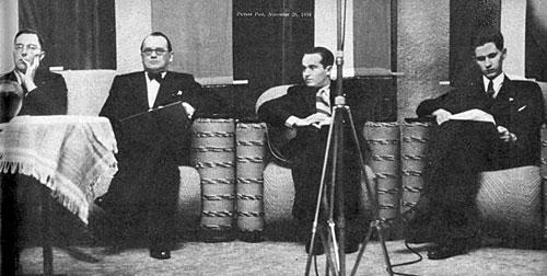 Euwe, Alekhine, Flohr y Keres en AVRO 1938 Picture Post, 26 de noviembre de 1938