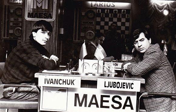 Ivanchuk y Ljubojevic en Linares 1990