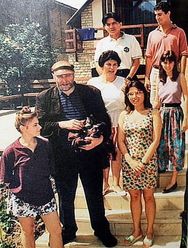 Judit Polgar con Bobby Fischer