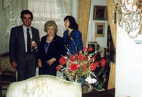 Kasparov y Olga Capablanca