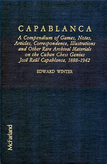 Libro de Edward Winter sobre Capablanca
