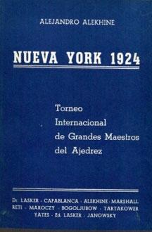 Libro de Nueva York 1924 de Alekhine
