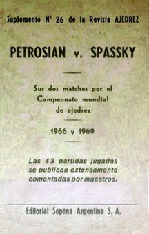 Libros de los dos matches Petrosian vs Spassky