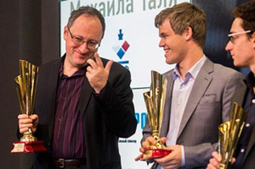 Los 3 primeros Gelfand, Carlsen y Caruana