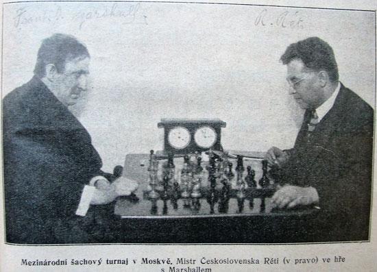 Marshall y Reti en Moscú 1925
