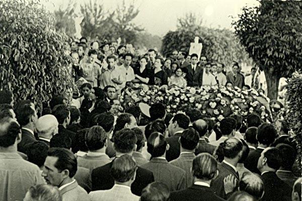 Multitud en el sepelio de Capablanca