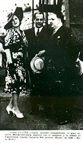 Olga, Capablanca y Alfonso Hernández Catá, Diario de la Marina, 10 de marzo de 1942