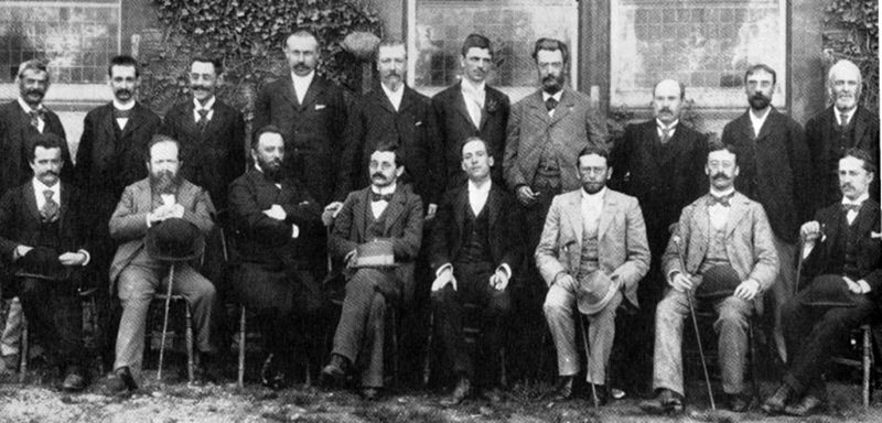 Participantes del  Hastings 1895 International Chess Tournament Horace F. Cheshire