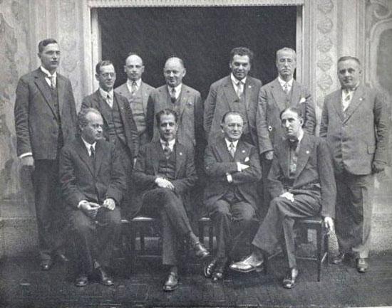 Sent. Nimzovich, Capablanca, Tarrasch y Marshall en Bad Kissingen 1928