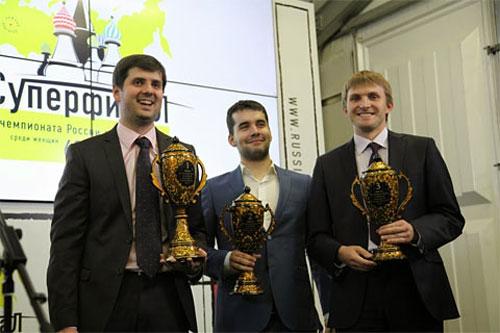 Svidler, 1º Nepomniachtchi 2º y Vitiugov 3º al superar por desempate a Kramnik
